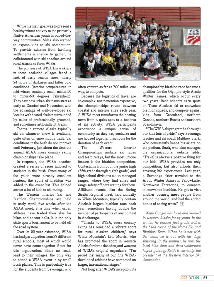 cross country skier magazine article