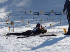 skier shooting