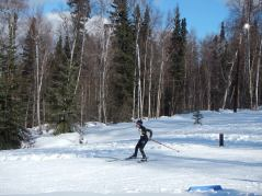 skier racing