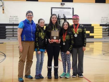jr high girls team awarded